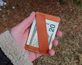 The Chapman Minimalist Wallet, Front Pocket Wallet, Slim Wallet, Cash Strap, Mens Leather Wallet, Card Wallet, Personalized Groomsmen Wallet