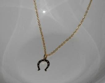 Gold Horseshoe Necklace,Horseshoe Necklace,Tiny Gold Horseshoe Necklace,Horseshoe Jewelry,Gold Horseshoe Jewelry,Horse Lover Gift