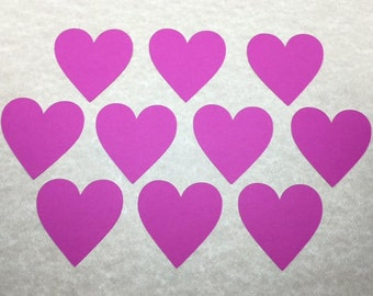 30 Cardstock Die Cut Heart Cut Out