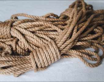 3x26ft 8mm Shibari Rope Beginner's Kit Shibari Rope for Bonadge Play Shibari Kinbaku Jute Rope