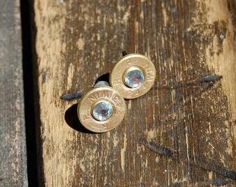 Clear 243 Bullet Earrings, 243 Bullet Stud Earrings, Bullet Jewelry, Bullet Earrings, FREE SHIPPING!, Birthday, Wedding, Bridesmaid, CUSTOM