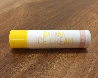 BANANA ICE CREAM Lip Balm - All Natural - Homemade