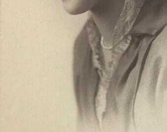 1910's | Portrait of Woman | long black & white photograph