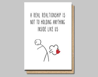 card for boyfriend, Funny love card, Funny Anniversary Card, Funny Valentines Card, Card for husband, Wedding Anniversary, 1st Anniversary