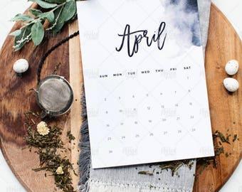 Styled Stock Image | Calendar Month - April | Digital Image | Styled Images