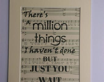 Hamilton Music Print | Alexander Hamilton lyrics | Lin Manuel Miranda