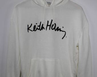 KEITH HARING Pop Art Artwork Pullover Hoodies Light Cotton Material