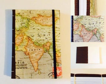 Asia Travel A5 Journal Notebook Sketch Pad Hand Made