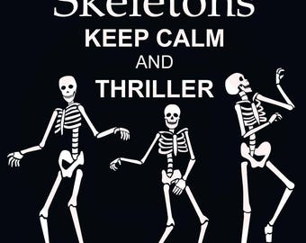 Thriller human dance skeleton SVG decal clipart DXF print cameo cricut cutting files Michael Jackson halloween wall room design decor art