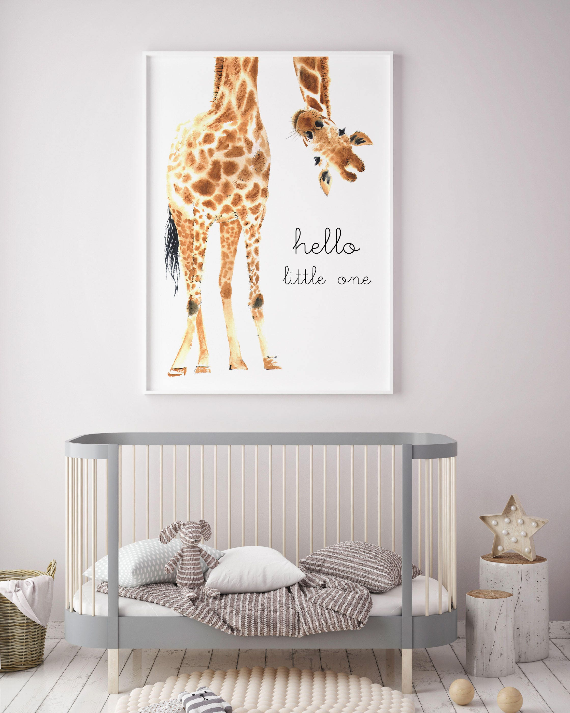 Giraffe Animal Nursery Decor Nursery Wall Art PRINTABLE Art