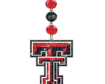 TEXAS TECH University *Bling* MAGNETIC Ornament Red Raiders Home Decor/Red Raiders Ornament/Red Raiders Tailgating/Red Raider Dorm
