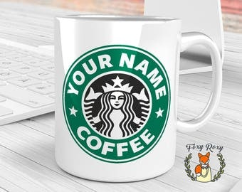 Personalized Starbucks Coffee Mug |  Custom Starbucks Mug | Starbucks Ceramic Coffee Mug | Starbucks Cup | CM-159