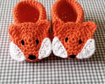 Handmade Baby Gift |  Crochet Baby Booties | Orange Fox Booties | Handmade | Baby Shower Gift | New Baby | Baby Boy | Girl | Woodland Theme
