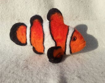 Clownfish Needle felted MADE TO ORDER ocean false clownfish fish needle felted wool clownfish