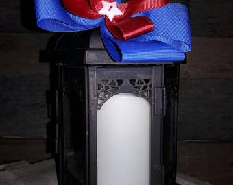 Red, White and Blue Layered Bow
