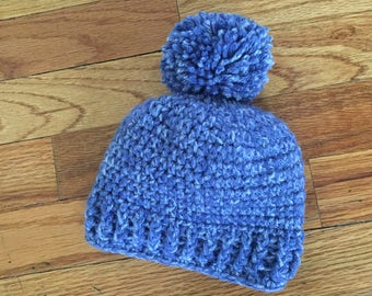 Crochet ribbed baby hat