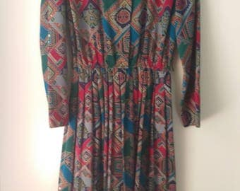 Leslie Fay Printed Dress