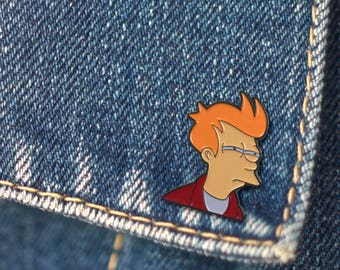 BUY 1, GET 1 Random Pin! Futurama Meme Enamel Pin Fry Lapel Pin Hat Pin Funny Pin Button Pin brooch Flair