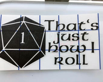 DND Decal | Dungeons and Dragons Decal | DND Sticker | Tabletop Gaming Decal | Dungeons and Dragons Sticker