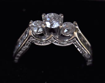 Beautiful Hidden Detail Past Present Future (Three tiered) Diamond Engagement Ring