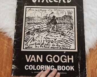 Vintage Vincent Van Gogh coloring book | 70s Van Gogh coloring book | 70s Van Gogh art book | vintage Van Gogh coffee table book | art book
