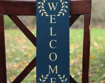 "Solid Wood ""Welcome"" Sign, Home Decor, Gift"