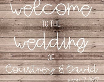 Customized Wedding Sign (Digital File)