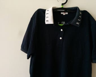 Vintage ELLE  neck spell out polo shirt