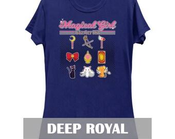 Ladies Slim Fit Magical Girl Starter Kit T-shirt (8 Color Variations)