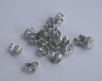 100 Silver Earring - supportive Earrings Backs Iron tips