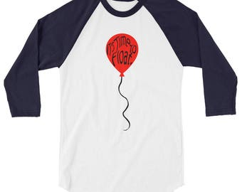 Pennywise - It - Shirt - It 2017 - Movie - Pennywise - It's Time To Float - Clown - It Movie Quote - Balloon