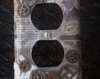 Steampunk Outlet cover