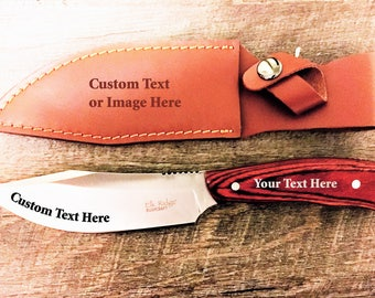 Engraved Knife-Custom Knife-Personalized Knife-Fathers Day-Personalized Gifts for Men-Gift for Him-Outdoors-Stainless Steel Engraving