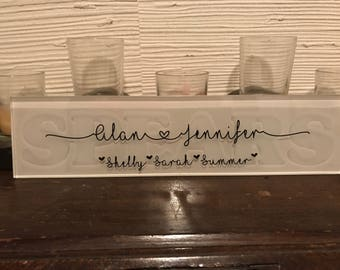 Etched Glass Name Plate