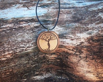 "Soul slices ""Tree of life 8"" wooden necklace vintage * Ethno * hippie * MUST have * statement * Boho *"