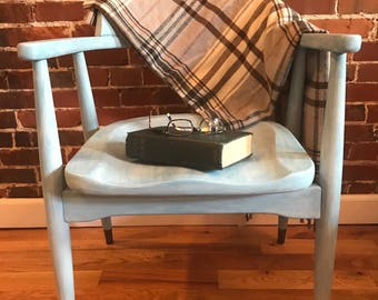 Beautiful Vintage Chair- Refurbished Painted with Chalk Paint, Pickle Finish