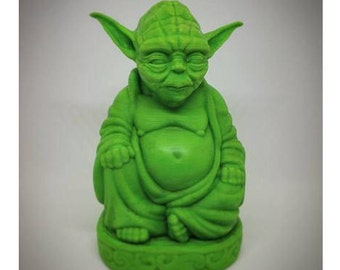 NEW* Yoda Buddha | Yoda Statue | Star Wars Figurine | Star Wars | Laughing Buddha | Pop Buddha | Master Yoda | Buddha