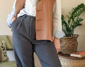 Vintage wool vest | 1990's wool sweater vest