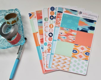 Painted Ikat - Erin Condren Vertical Weekly Kit