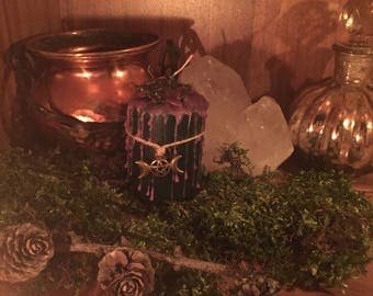 """Magic Ritual Candle """"witch"""" Dragon Treasures Witch Candle Magick Wicca Pagan Gothic Alternative occultism"""