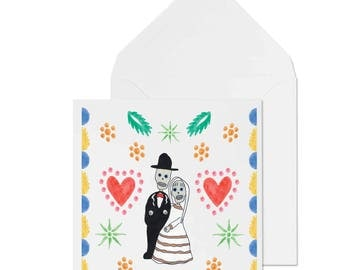 Mexican Day of the Dead Skeleton Greetings Card