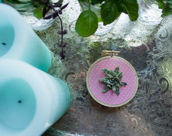 Polka Dot Garden 3 Inch Embroidery