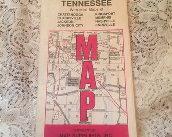 1965 L&R Tennessee Road Map