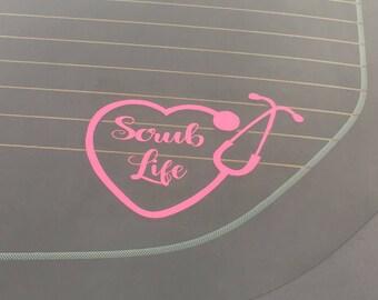 Scrub Life Decal