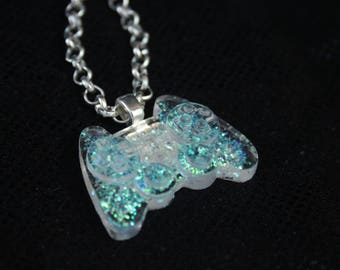 Magical Iridescent Glitter Controller Necklace