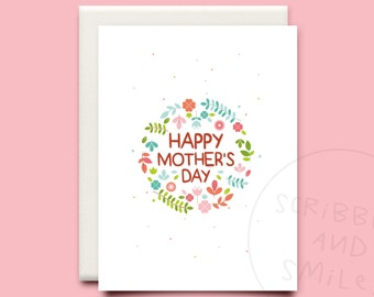 Happy mothers day - greeting card - Mothers day card