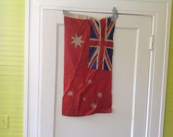 "Vintage Australian Flag 18X34"""