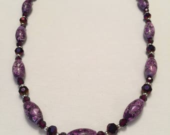 Purple Marble Necklace