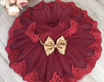 Baby/Toddler/Kid Girl Sequin/Lace Party/Wedding/Flower Girl Dress // Clothing/Clothes/Outfit