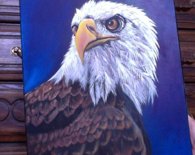 American Eagle Painting, Oil painting, Oil Painting of Eagle